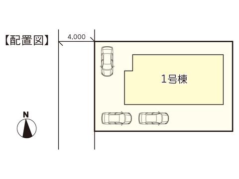 岡山市中区中井の新築 一戸建て分譲住宅の区画図
