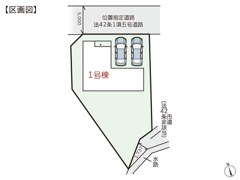 岡山県倉敷市安江の新築 一戸建て分譲住宅の区画図
