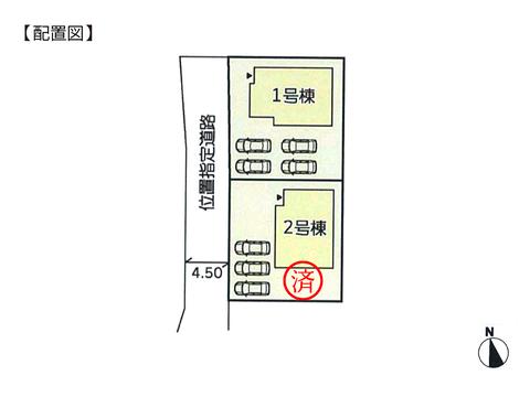 岡山県倉敷市連島町矢柄の新築 一戸建て分譲住宅の区画図