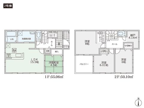 岡山県倉敷市堀南の新築 一戸建て分譲住宅の間取り図