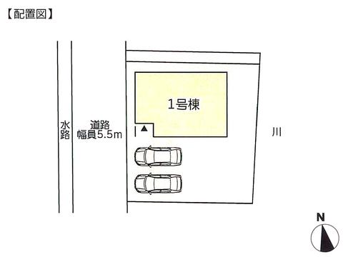 岡山県倉敷市玉島阿賀崎の新築 一戸建て分譲住宅の区画図