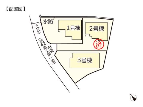 岡山県岡山市南区迫川の新築 一戸建て分譲住宅の区画図
