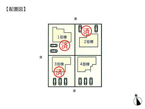 岡山県倉敷市水島南春日町の新築 一戸建て分譲住宅の区画図