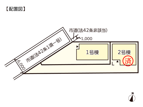 岡山県岡山市南区福田の新築 一戸建て分譲住宅の区画図