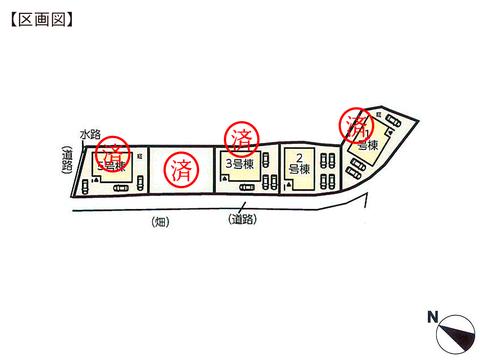 岡山県岡山市北区牟佐の新築 一戸建て分譲住宅の区画図