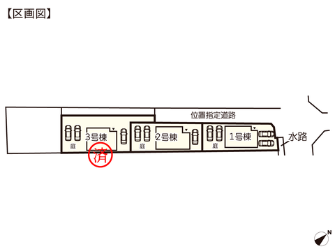 岡山県岡山市南区宗津の新築 一戸建て分譲住宅の区画図