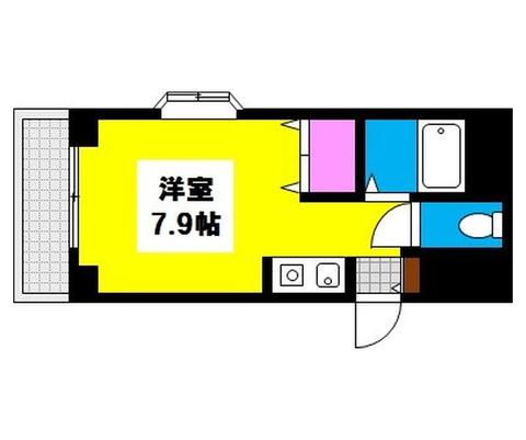 岡山県岡山市北区奥田本町の賃貸物件マンション 間取り図