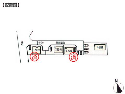 岡山県倉敷市船穂町船穂の新築 一戸建て分譲住宅の区画図