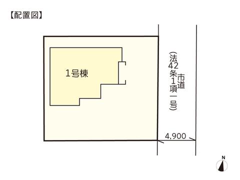 岡山市中区倉益の新築 一戸建て分譲住宅の区画図