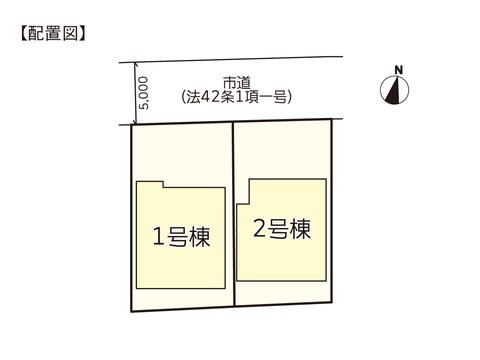 岡山市北区下伊福上町の新築 一戸建て分譲住宅の区画図