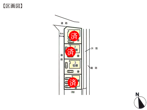 岡山県倉敷市連島町連島の新築 一戸建て分譲住宅の区画図