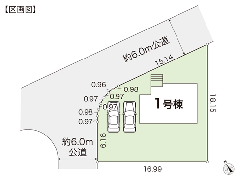 岡山県赤磐市桜が丘西7丁目の新築 一戸建て分譲住宅の区画図