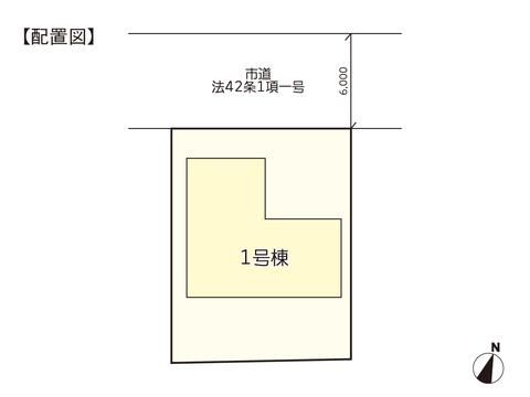 岡山市東区城東台東の新築 一戸建て分譲住宅の区画図