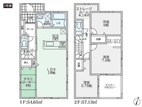 岡山県倉敷市連島5丁目の新築 一戸建て分譲住宅の間取り図