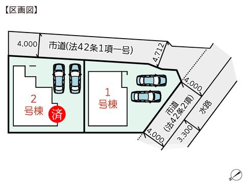 岡山県倉敷市片島町の新築 一戸建て分譲住宅の区画図