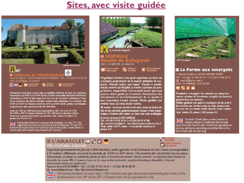 Sites avec visites guidées