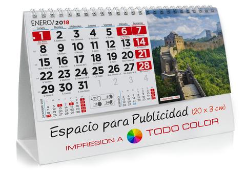 Calendario sobremesa de Lugares del Mundo