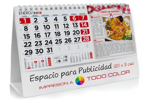 Calendario sobremesa de Recetas de cocina