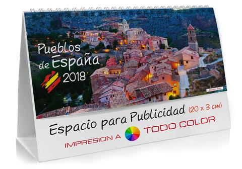 Calendario sobremesa de lugares de España