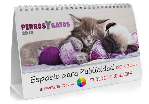 Calendario sobremesa de Gatos y Perros