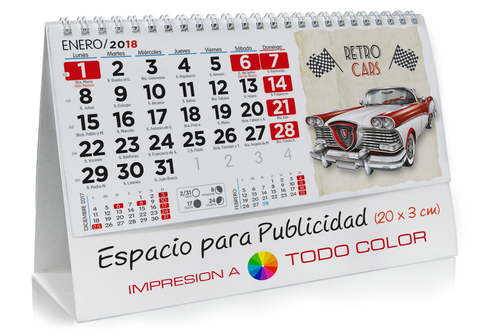 Calendario sobremesa de Coches Clásicos