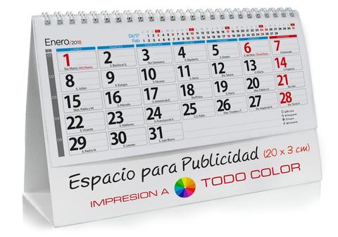 Calendario sobremesa de NOTAS DIARIO