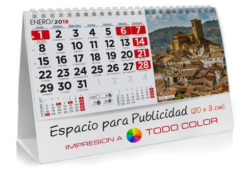 Calendario sobremesa de España