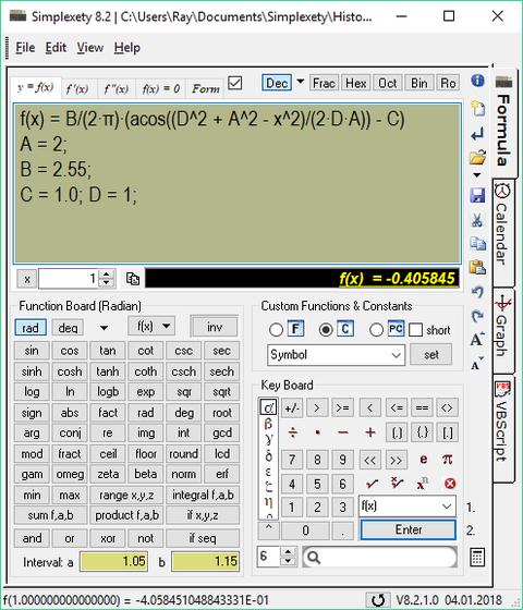Simplexety screenshot