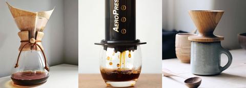 Caferetas de filtro, molinillos de café, filtros de papel,...