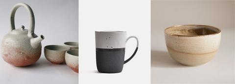 Teteras, tazas con filtro para té, latas para té,...