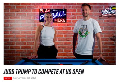 左はマッチルームプールのエミリー・フレイザー https://matchroompool.com/news/judd-trump-to-compete-at-us-open/
