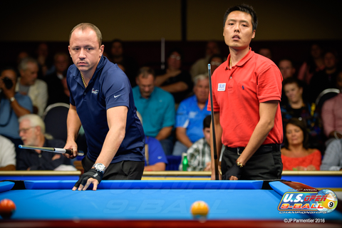 Shane Van Boening & 張榮麟 Photo Courtesy of U.S. Open 9-ball Championships & JP Parmentier