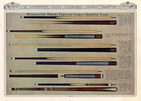 """ブランズウィック社デジタルアーカイブ・ """"The Brunswick-Balke-Collender Co. Billiard Table Catalogue 1923-1924.""""より。 画像一番下が『モデル360』"""