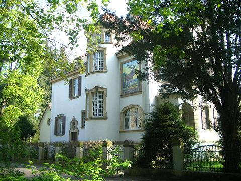 Forstamthaus nördlich des Karlsruher Schlosses, nahe der Majolika-Manufaktur, Hedy wohnt hier 1923 -1930