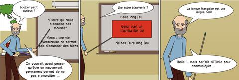 le français est une langue belle