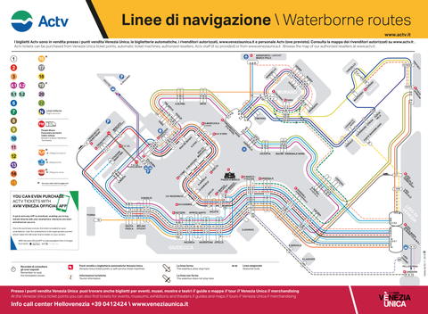 ACTV Vaporetto Map November 2017