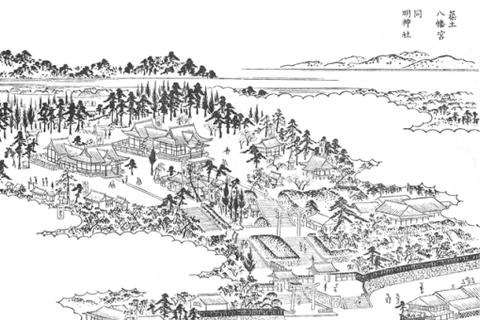 江戸名所図会築土八幡神社