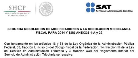 CLIC EN IMAGEN PARA VER ORIGINAL EN PAGINA DEL SAT. PUBLICADO EL 5 DE JUNIO DEL 2014.