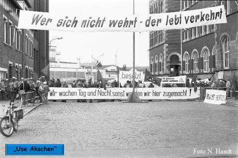 """""""Wer kämpft, kann verlieren, wer nicht kämpft, hat schon verloren"""" Sept. 1983"""