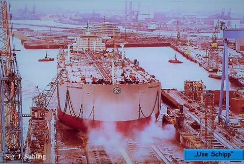 """Die """"Ioannis Colocotronis"""" war mit ihrem Ablaufgewicht  von fast 60.000 Tonnen zu der Zeit größte Schiff der Welt."""