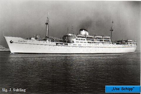 """Das Fracht- und Motorschiff """"Akdeniz"""" ist fertiggestellt und läuft zur Werftprobefahrt aus."""
