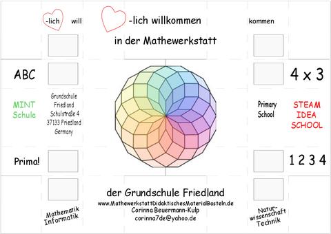 Visitenkarte der Mathewerkstatt, limited Edition