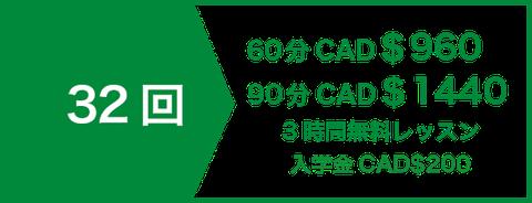 セミプライベートレッスン20回 CAD$520 | 3時間無料レッスン | 入学金CAD$200