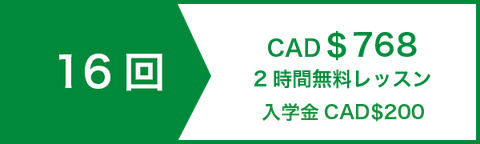 アカデミック 英文 ライティング 講座 コースレッスン16回 CAD$672   2時間無料レッスン   入学金CAD$200