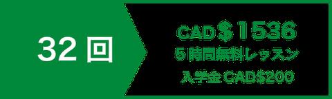 アカデミック 英文 ライティング 講座 レッスン32回 CAD$1344   5時間無料レッスン   入学金CAD$200