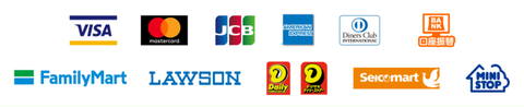 FitStudyの決済手段のロゴ