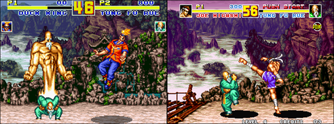 Super NES version/ Neo Geo version