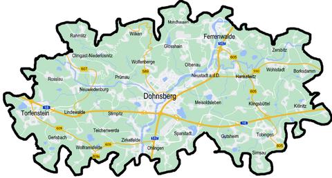 Lage der A18 und der A187 im Landkreis