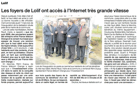 Ouest-France, 11.03.2013