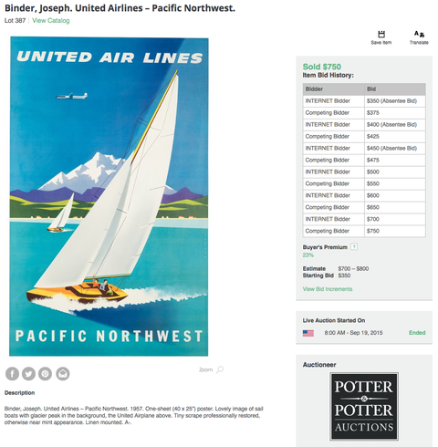 United Air Lines - Pacific Northwest - Joseph Binder - Original Vintage Poster